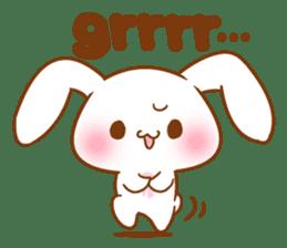 Moonlit night Child rabbit. Glitter! sticker #7440053
