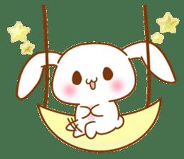 Moonlit night Child rabbit. Glitter! sticker #7440054