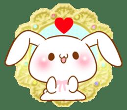 Moonlit night Child rabbit. Glitter! sticker #7440055