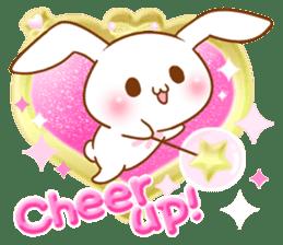 Moonlit night Child rabbit. Glitter! sticker #7440056