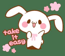 Moonlit night Child rabbit. Glitter! sticker #7440057