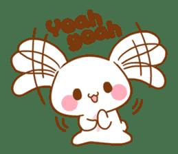 Moonlit night Child rabbit. Glitter! sticker #7440058