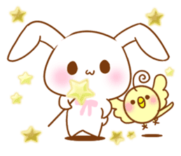 Moonlit night Child rabbit. Glitter! sticker #7440059