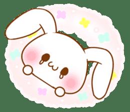 Moonlit night Child rabbit. Glitter! sticker #7440060