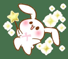 Moonlit night Child rabbit. Glitter! sticker #7440062