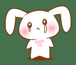 Moonlit night Child rabbit. Glitter! sticker #7440065