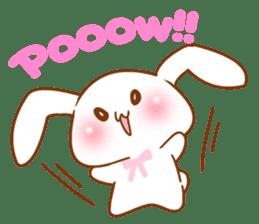 Moonlit night Child rabbit. Glitter! sticker #7440066