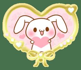 Moonlit night Child rabbit. Glitter! sticker #7440071