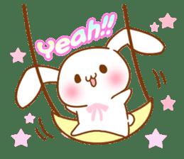Moonlit night Child rabbit. Glitter! sticker #7440074