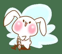 Moonlit night Child rabbit. Glitter! sticker #7440075