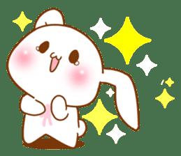 Moonlit night Child rabbit. Glitter! sticker #7440082