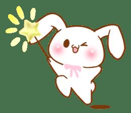 Moonlit night Child rabbit. Glitter! sticker #7440083