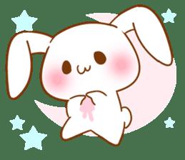Moonlit night Child rabbit. Glitter! sticker #7440088
