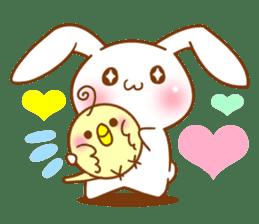 Moonlit night Child rabbit. Glitter! sticker #7440090
