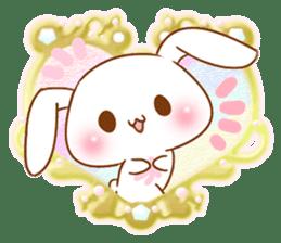 Moonlit night Child rabbit. Glitter! sticker #7440091