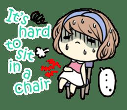 Girl's period (English ver) sticker #7443084