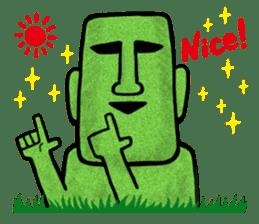 Mr.MOAI STATUE Part2 sticker #7452656