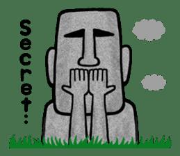 Mr.MOAI STATUE Part2 sticker #7452658