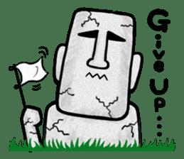Mr.MOAI STATUE Part2 sticker #7452659