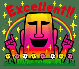 Mr.MOAI STATUE Part2 sticker #7452660