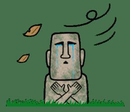 Mr.MOAI STATUE Part2 sticker #7452661