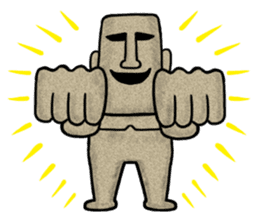 Mr.MOAI STATUE Part2 sticker #7452666