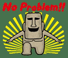Mr.MOAI STATUE Part2 sticker #7452673