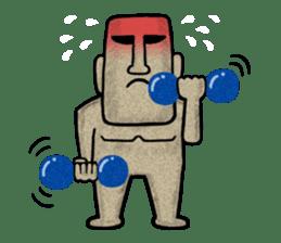 Mr.MOAI STATUE Part2 sticker #7452675