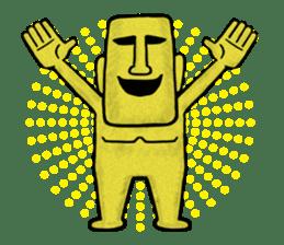 Mr.MOAI STATUE Part2 sticker #7452677