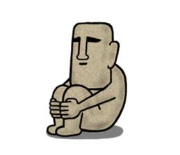 Mr.MOAI STATUE Part2 sticker #7452682