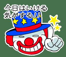 happy happy clown sticker #7454896