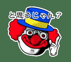 happy happy clown sticker #7454917