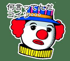 happy happy clown sticker #7454920