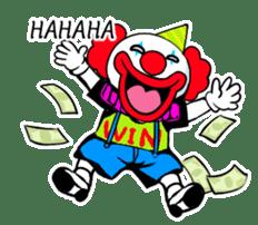 happy happy clown sticker #7454922