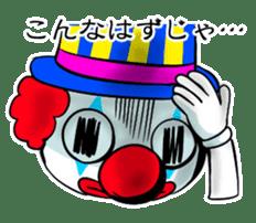 happy happy clown sticker #7454923