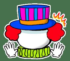 happy happy clown sticker #7454924