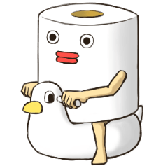 Toilet roll Sticker 2