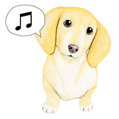 Miniature Dachshund sticker (English)