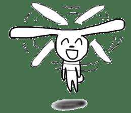 Super high spirits rabbit sticker #7473717