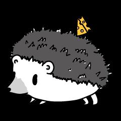 A little hedgehog!Cheese!