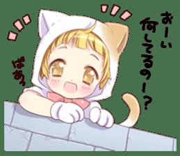 Boy of a cat ear 2 sticker #7488670
