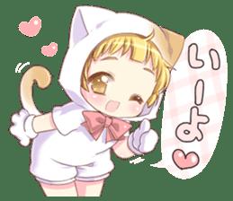 Boy of a cat ear 2 sticker #7488674