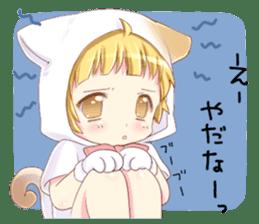 Boy of a cat ear 2 sticker #7488675