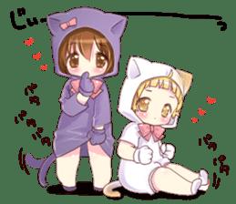 Boy of a cat ear 2 sticker #7488680