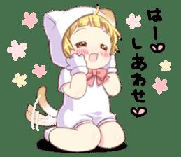 Boy of a cat ear 2 sticker #7488683