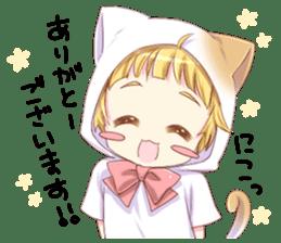 Boy of a cat ear 2 sticker #7488685
