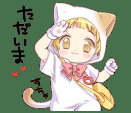 Boy of a cat ear 2 sticker #7488694