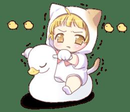 Boy of a cat ear 2 sticker #7488697