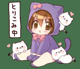 Boy of a cat ear 2 sticker #7488698