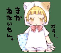 Boy of a cat ear 2 sticker #7488706